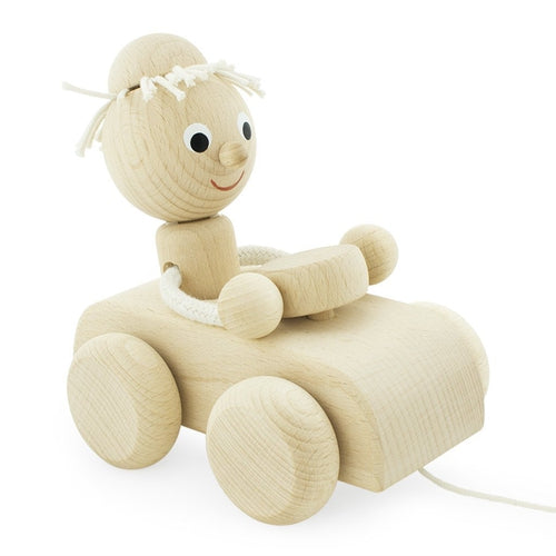 Miva Vacov Wooden Pull Along Car - Pete-Jack & Willow