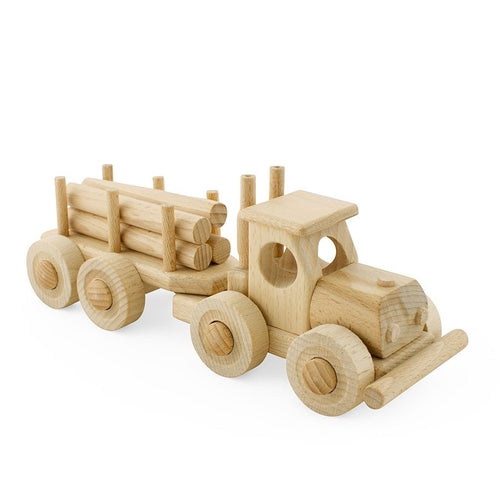 Ceeda Cavity Wooden Truck with Trailer - Toby - Jack & Willow