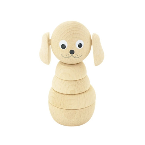 Miva Vacov Wooden Stacking Dog Puzzle - Blair (Natural)-Jack & Willow