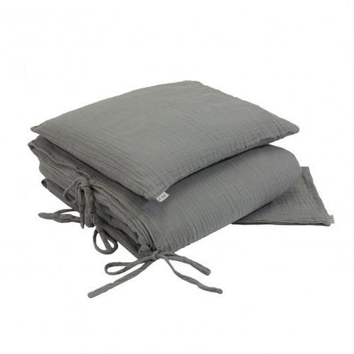 Numero 74 Bedding Duvet Quilt Cover Set Cot - Silver Grey - Jack & Willow