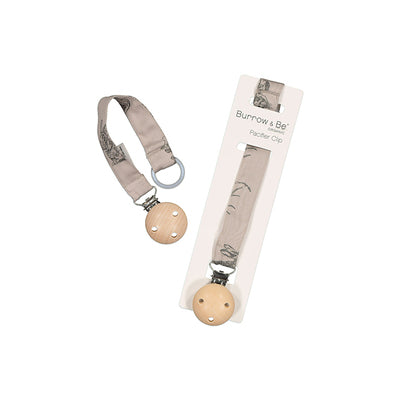 Burrow & Be Dummy Clip - Grey Burrowers