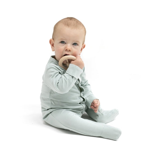 Burrow & Be Organic Sleep Suit - Mist-Jack & Willow