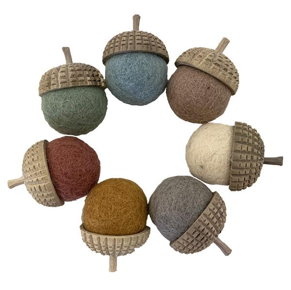 Papoose Earth Acorns - 7 Pcs
