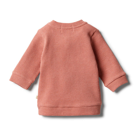 Wilson & Frenchy Waffle Sweater - Clay