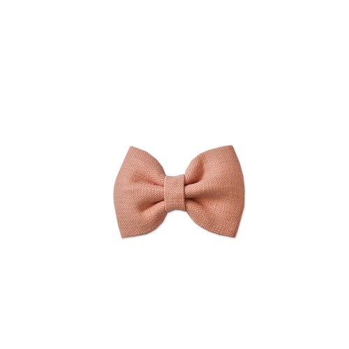 Pretty Wild Georgie Bow Clip - Blush Linen-Jack & Willow