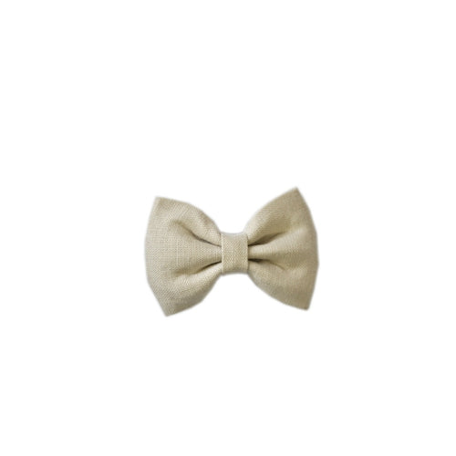 Pretty Wild Georgie Bow Clip - Natural Linen-Jack & Willow