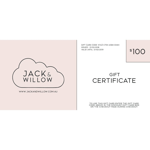 Jack & Willow Gift Certificate-Jack & Willow