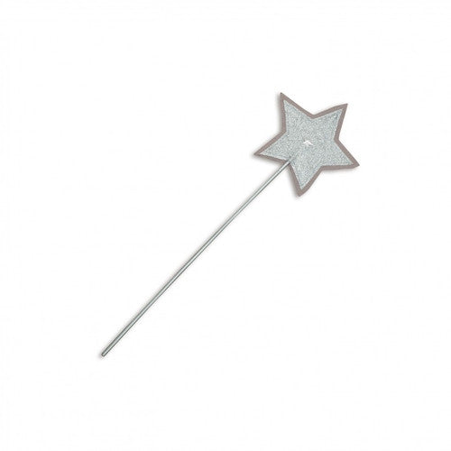 Numero 74 Glitter Star Wand - Silver Grey-Jack & Willow