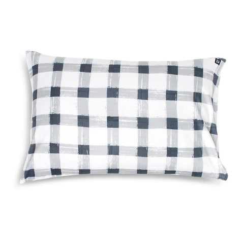Sack Me Grey Gingham Pillowcase