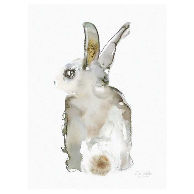 Elise Stalder Watercolour Print - Rabbit (Limited Edition)