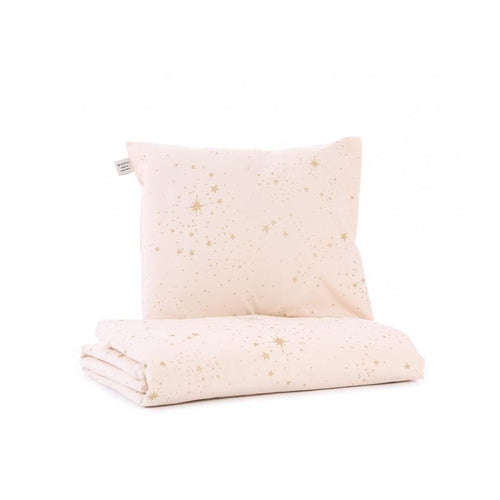 Nobodinoz Quilt Cover Set - Dream Pink / Gold Stellar-Jack & Willow