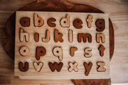 Q Toys Lowercase Natural Letter Puzzle