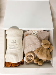 Luxe Gift Box with Raw Silk Bow