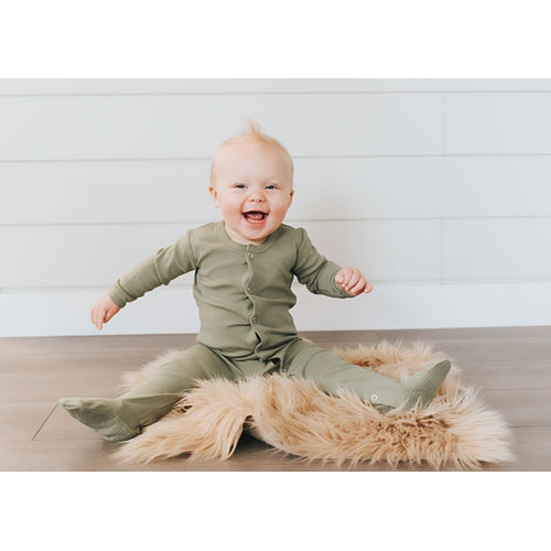 L'oved Baby Organic Footed Overall Growsuit - Sage-Jack & Willow