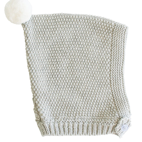 Alimrose Pixie Bonnet - White & Grey-Jack & Willow
