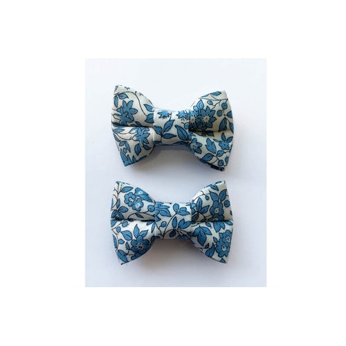 Pretty Wild Twin Bow Snap Clips - Liberty Camomile-Jack & Willow