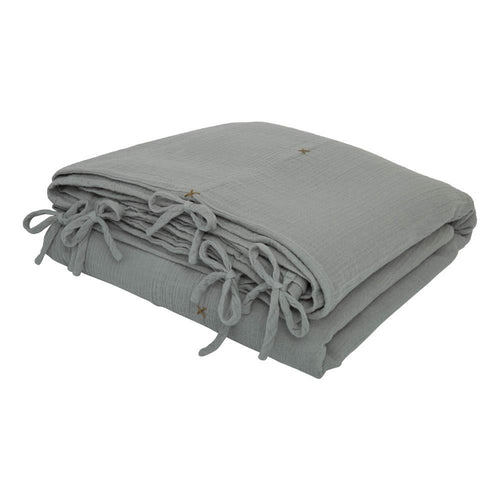 Numero 74 Organic Quilt Cover - Silver Grey-Jack & Willow