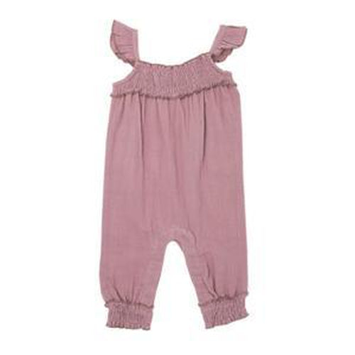 L'oved Baby Organic Lavender Muslin Romper-Jack & Willow