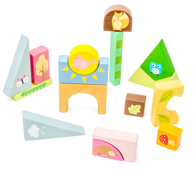 Petilou Woodland Puzzle Blocks