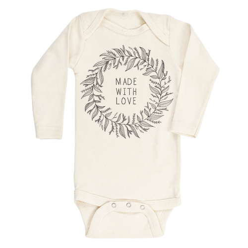 Tenth & Pine Made with Love Organic Long Sleeve Bodysuit-Jack & Willow