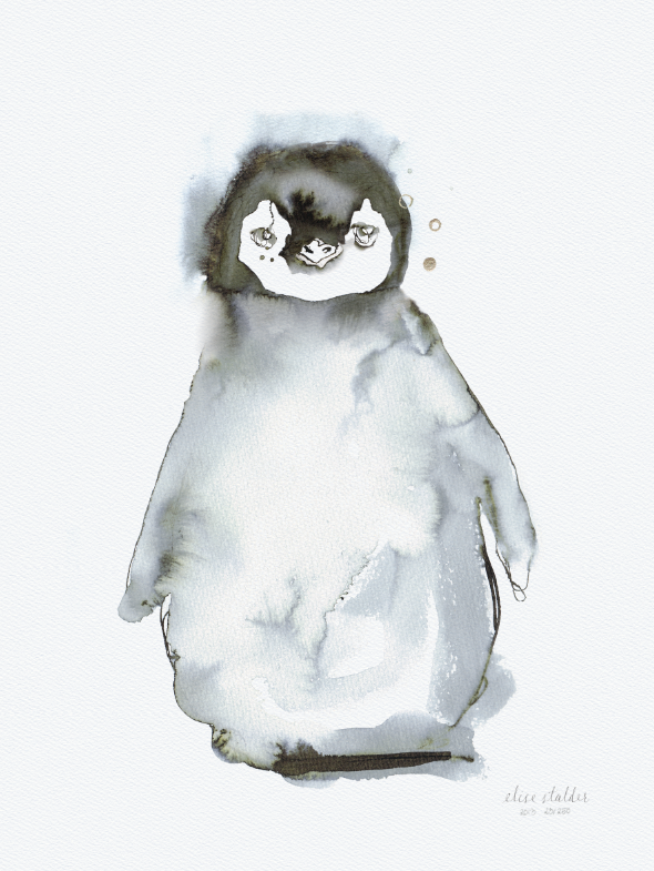 Elise Stalder Watercolour Print - Penguin (Limited Edition)