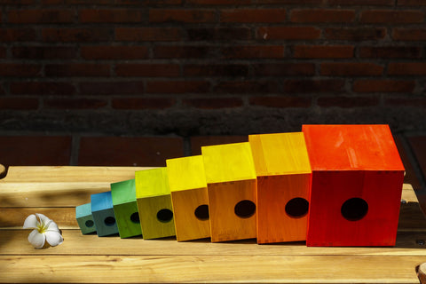 Q Toys  Large Rainbow Nesting Boxes