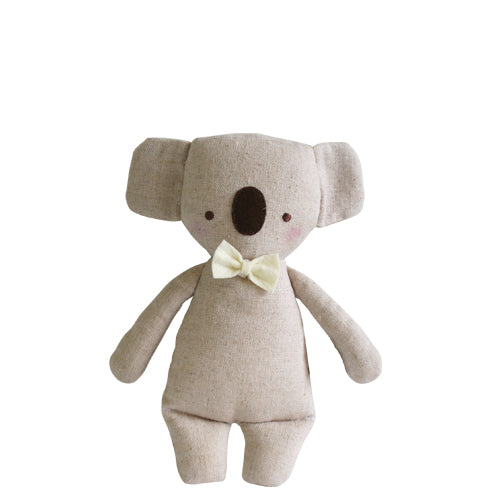 Alimrose Linen Mini Koala Rattle 18cm-Jack & Willow
