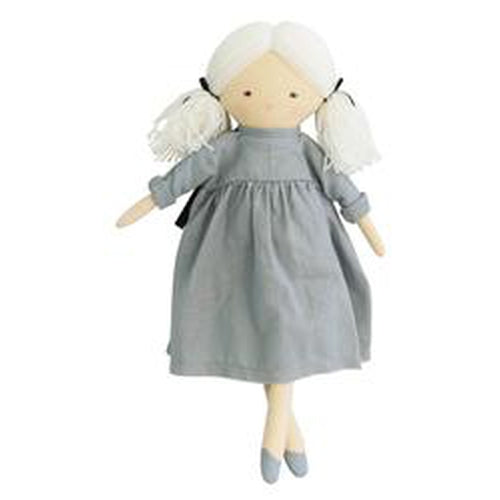 Alimrose Matilda Doll - Grey 45cm-Jack & Willow