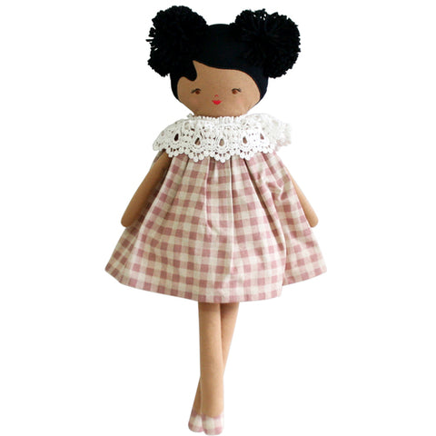 Alimrose Aggie Doll - Rose Check 45cm