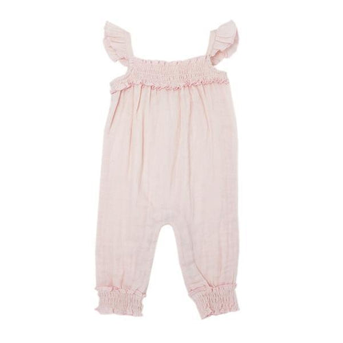 L'oved Baby Organic Blush Muslin Romper-Jack & Willow