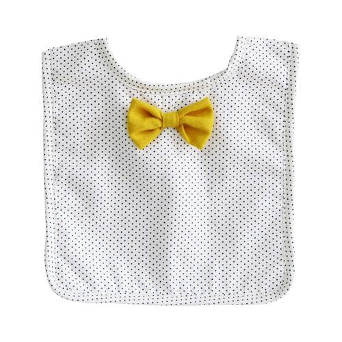 Alimrose Bow Tie Bib - Navy & Butterscotch-Jack & Willow