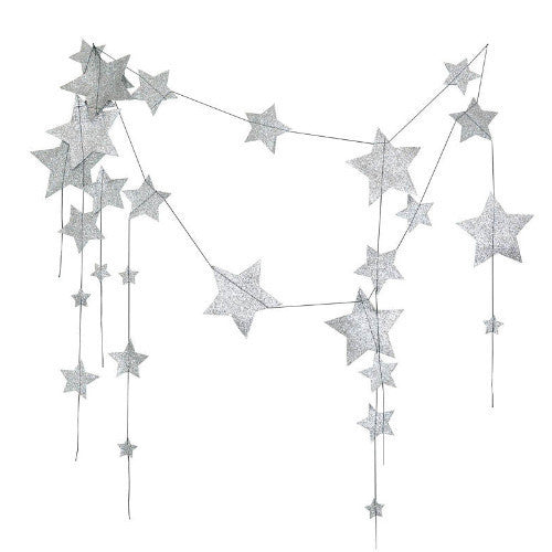 Numero 74 Falling Stars Garland - Silver-Jack & Willow