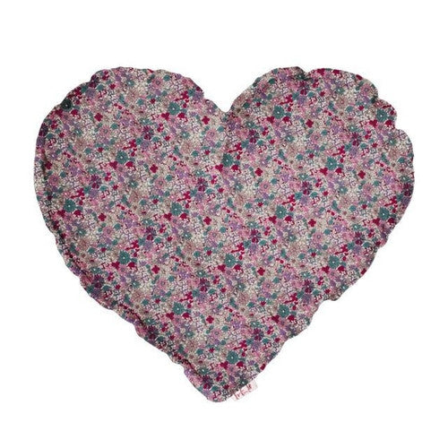 Numero 74 Heart Cushion Bobo Flowers Purple - Medium-Jack & Willow