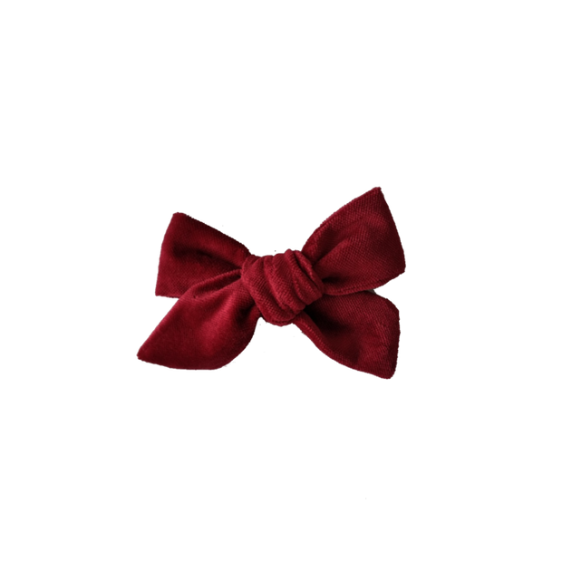 Piper Bug Velvet Bow with Clip