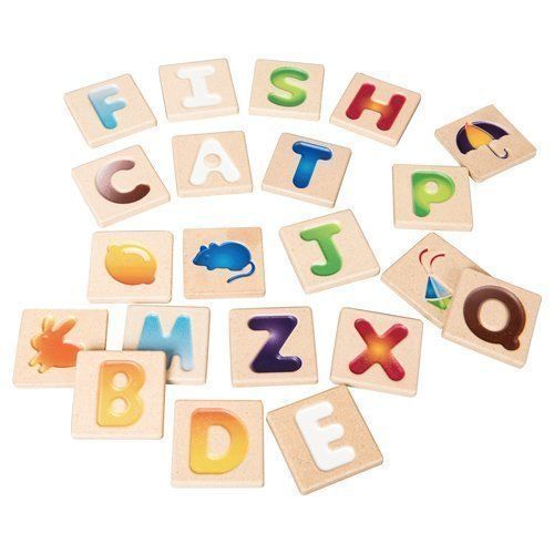 Plan Toys Wooden Alphabet Tiles-Jack & Willow
