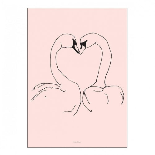 Pax & Hart Poster Sunday Love Birds - 50 x 70cm-Jack & Willow
