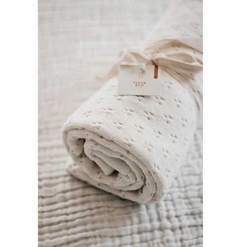 Piper Bug Heritage Knit Blanket - Snow-Jack & Willow