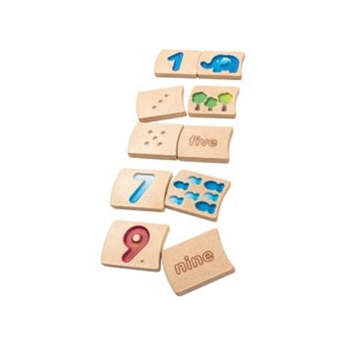 Plan Toys Wooden Number Tiles-Jack & Willow