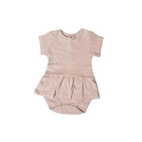 Quincy Mae Pointelle Short Sleeve Skirted Onesie - Rose-Jack & Willow