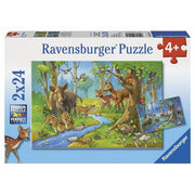 Ravensburger Cute Forest Animals Puzzle 2x24pc-Jack & Willow
