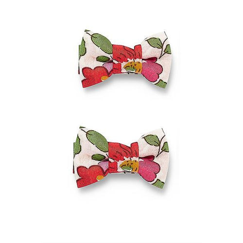 Pretty Wild Twin Bow Snap Clips - Red Betsy-Jack & Willow
