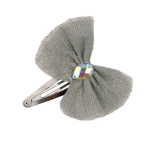 Numero 74 Luna Hair Clip - Silver Grey-Jack & Willow