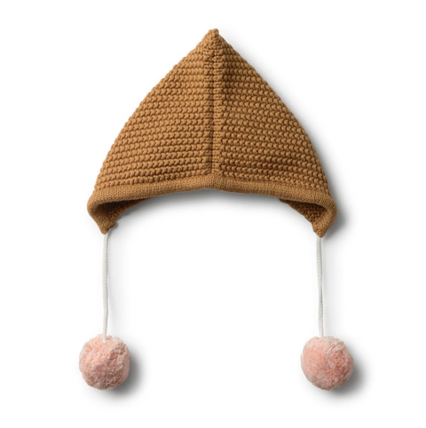 Wilson & Frenchy Caramel Knitted Bonnet