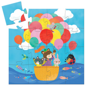 Djeco Silhouette Puzzle - Hot Air Balloon 16 pcs