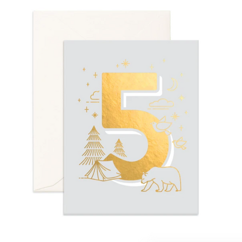 Fox & Fallow Age Birthday Card - 5