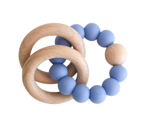Alimrose Beechwood Teether Ring - Blue