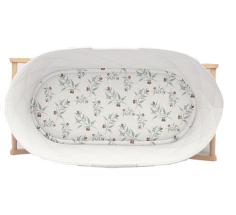 Piper Bug Jersey Fitted Bassinet Sheet - Ray