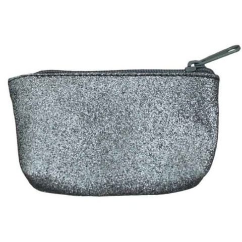 Numero 74 Mini Glitter Purse - Dark Grey-Jack & Willow