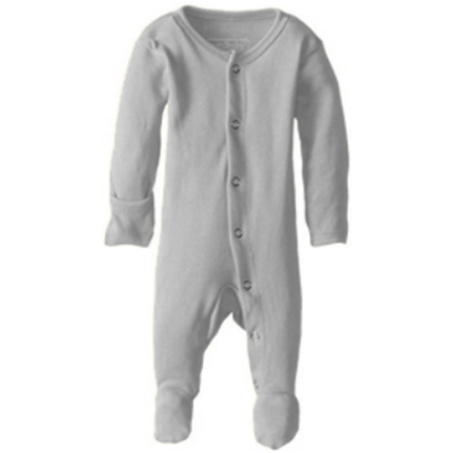 L'oved Baby Footed Overall Growsuit - Light Gray-Jack & Willow
