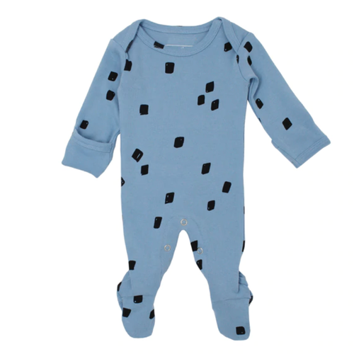 L'oved Baby Organic River Blue Stone Footed Overall-Jack & Willow